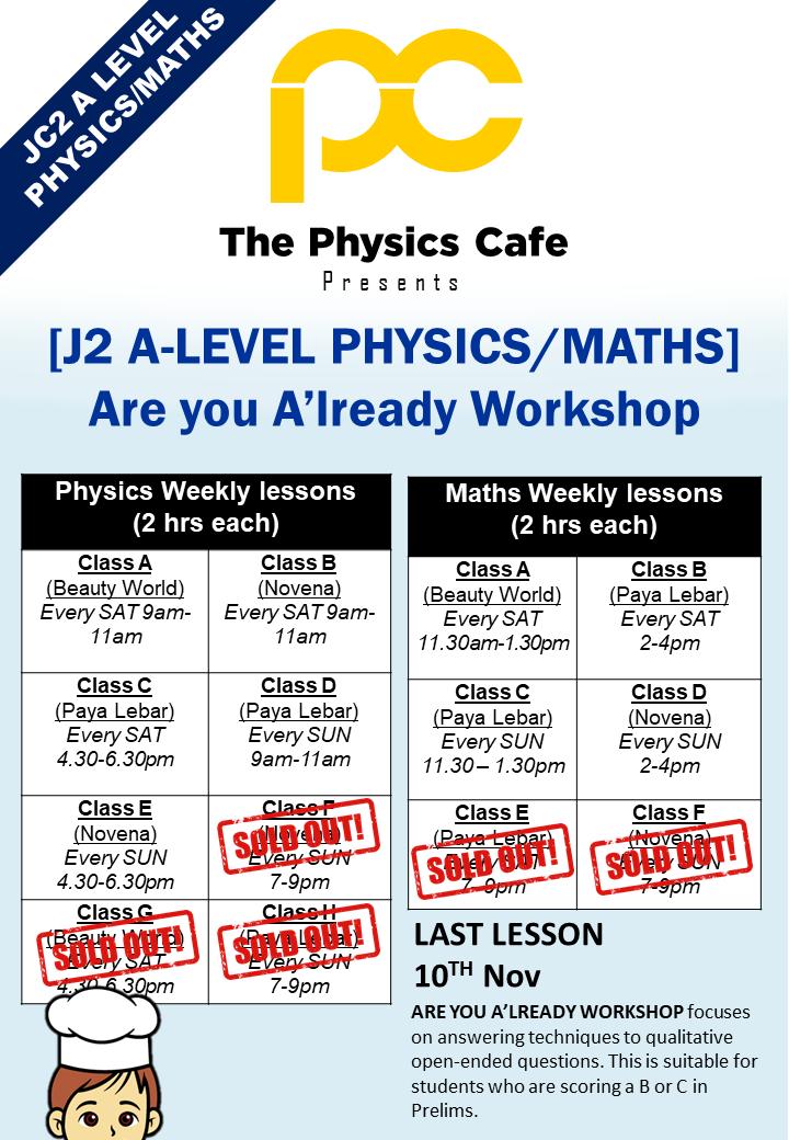 j2 physics maths workshop